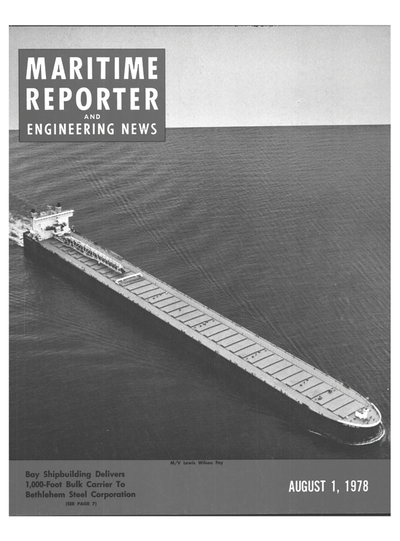 Cover of August 1978 issue of Maritime Reporter and Engineering News Magazine