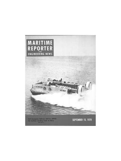 Cover of September 15, 1978 issue of Maritime Reporter and Engineering News Magazine