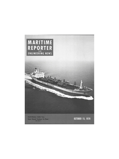 Cover of October 15, 1978 issue of Maritime Reporter and Engineering News Magazine