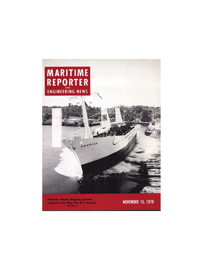 Cover of November 15, 1978 issue of Maritime Reporter and Engineering News Magazine