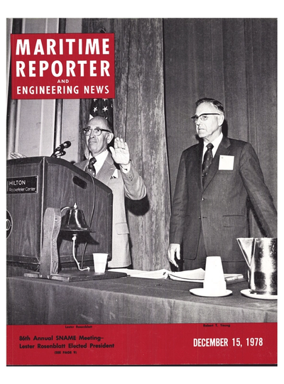 Cover of December 15, 1978 issue of Maritime Reporter and Engineering News Magazine