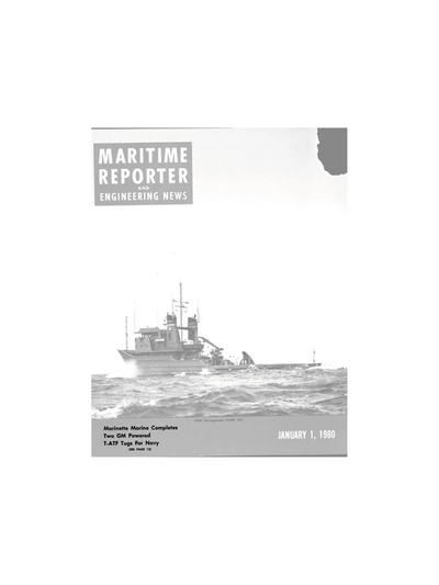 Cover of January 1980 issue of Maritime Reporter and Engineering News Magazine