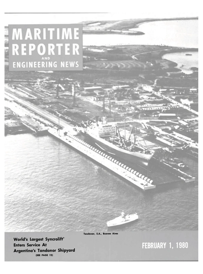 Cover of February 1980 issue of Maritime Reporter and Engineering News Magazine