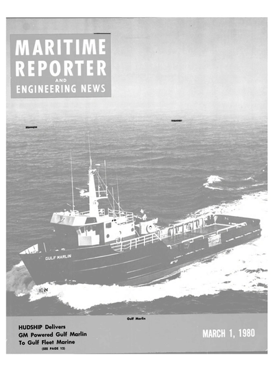 Cover of March 1980 issue of Maritime Reporter and Engineering News Magazine