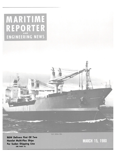 Cover of March 15, 1980 issue of Maritime Reporter and Engineering News Magazine