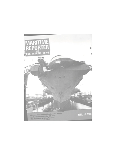 Cover of April 15, 1980 issue of Maritime Reporter and Engineering News Magazine