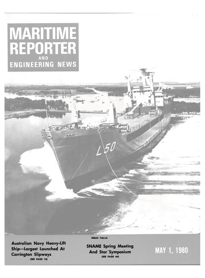 Cover of May 1980 issue of Maritime Reporter and Engineering News Magazine