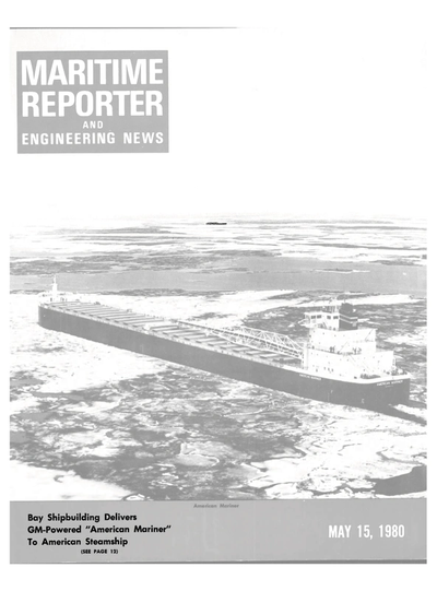 Cover of May 15, 1980 issue of Maritime Reporter and Engineering News Magazine