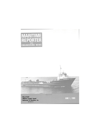Cover of June 1980 issue of Maritime Reporter and Engineering News Magazine