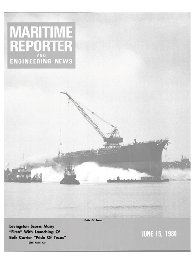Cover of June 15, 1980 issue of Maritime Reporter and Engineering News Magazine