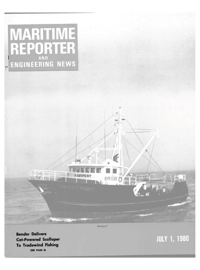 Cover of July 1980 issue of Maritime Reporter and Engineering News Magazine