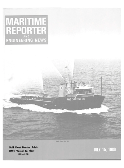 Cover of July 15, 1980 issue of Maritime Reporter and Engineering News Magazine
