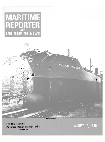 Cover of August 15, 1980 issue of Maritime Reporter and Engineering News Magazine