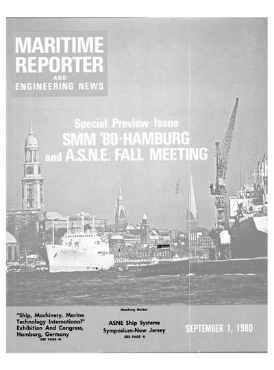 Cover of September 1980 issue of Maritime Reporter and Engineering News Magazine