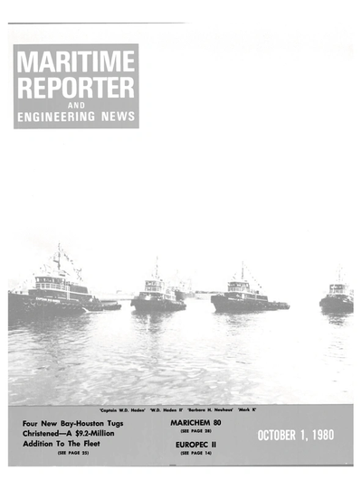 Cover of October 1980 issue of Maritime Reporter and Engineering News Magazine