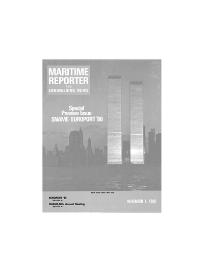 Cover of November 1980 issue of Maritime Reporter and Engineering News Magazine