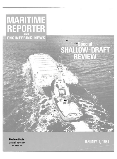 Cover of January 1981 issue of Maritime Reporter and Engineering News Magazine