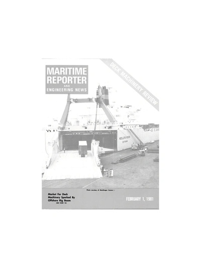 Cover of February 1981 issue of Maritime Reporter and Engineering News Magazine