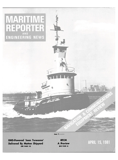 Cover of April 15, 1981 issue of Maritime Reporter and Engineering News Magazine