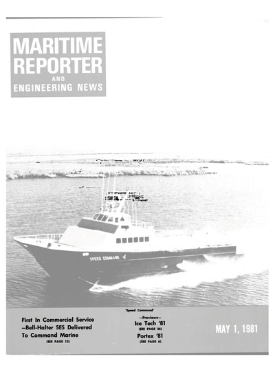 Cover of May 1981 issue of Maritime Reporter and Engineering News Magazine
