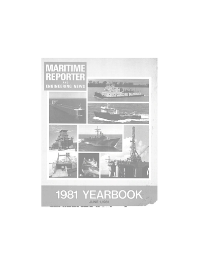Cover of June 1981 issue of Maritime Reporter and Engineering News Magazine