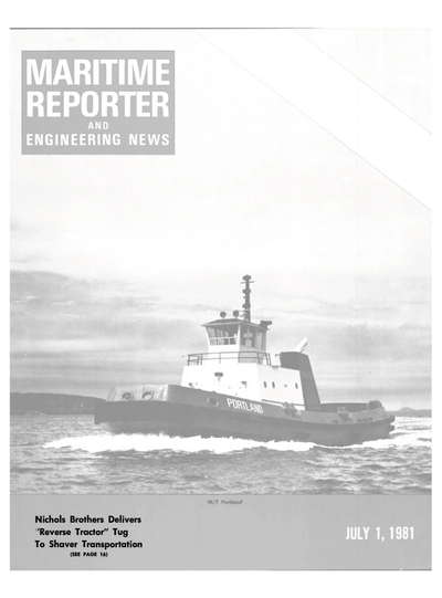 Cover of July 1981 issue of Maritime Reporter and Engineering News Magazine