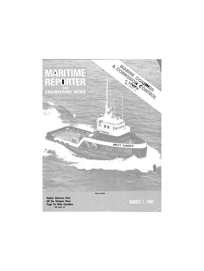 Cover of August 1981 issue of Maritime Reporter and Engineering News Magazine