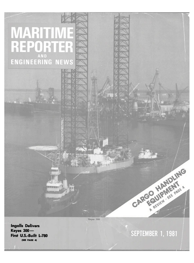 Cover of September 1981 issue of Maritime Reporter and Engineering News Magazine