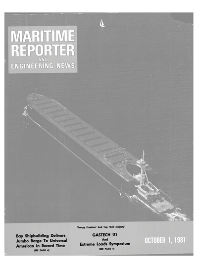 Cover of October 1981 issue of Maritime Reporter and Engineering News Magazine