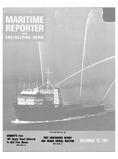 Cover of December 15, 1981 issue of Maritime Reporter and Engineering News Magazine