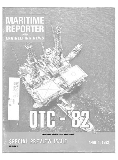 Cover of April 1982 issue of Maritime Reporter and Engineering News Magazine