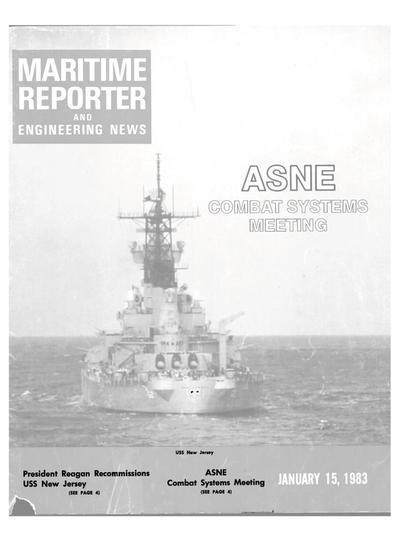 Cover of January 15, 1983 issue of Maritime Reporter and Engineering News Magazine