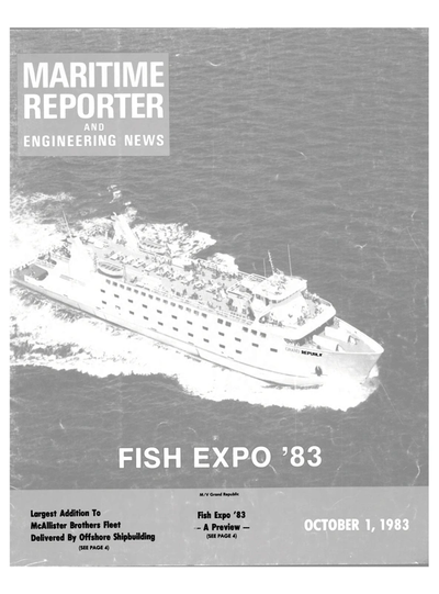 Cover of October 1983 issue of Maritime Reporter and Engineering News Magazine
