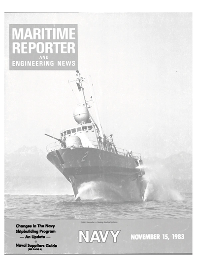 Cover of November 15, 1983 issue of Maritime Reporter and Engineering News Magazine