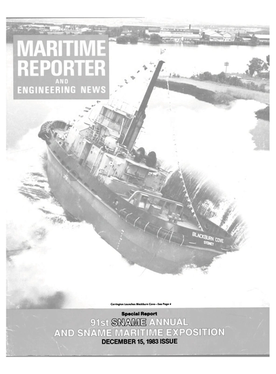 Cover of December 15, 1983 issue of Maritime Reporter and Engineering News Magazine