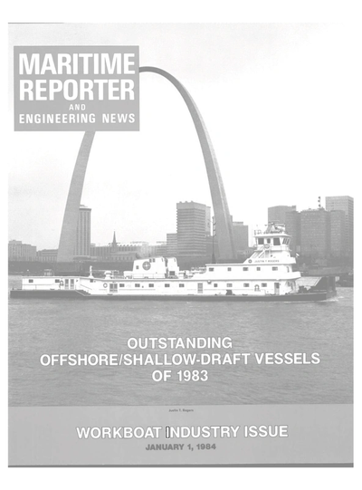 Cover of January 1984 issue of Maritime Reporter and Engineering News Magazine