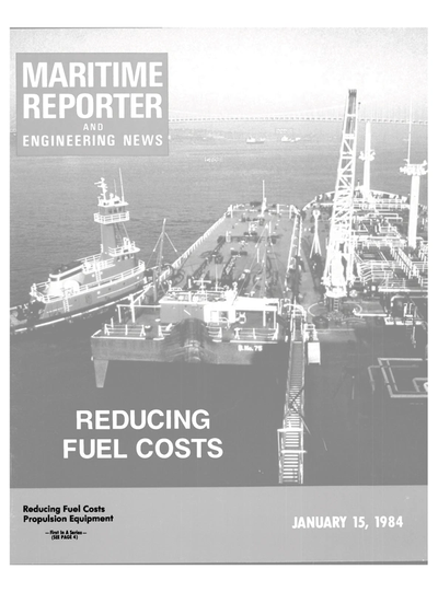 Cover of January 15, 1984 issue of Maritime Reporter and Engineering News Magazine
