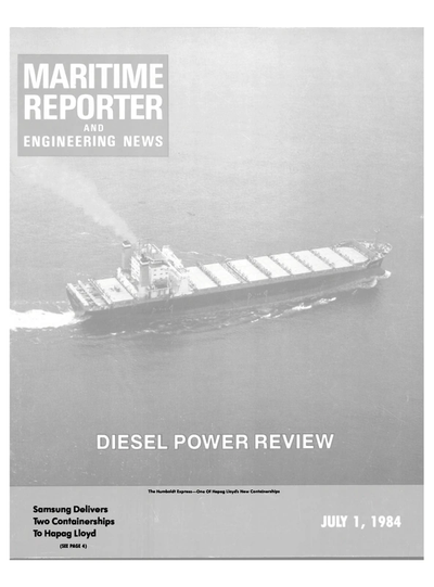 Cover of July 1984 issue of Maritime Reporter and Engineering News Magazine