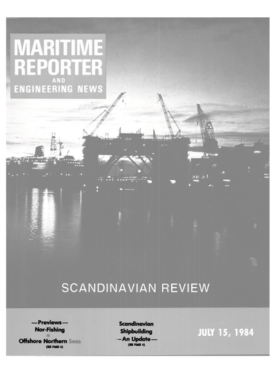 Cover of July 15, 1984 issue of Maritime Reporter and Engineering News Magazine