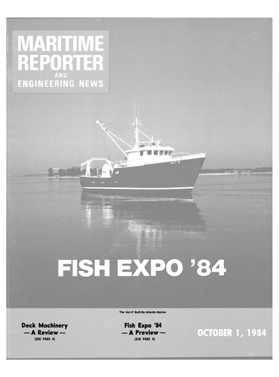 Cover of October 1984 issue of Maritime Reporter and Engineering News Magazine