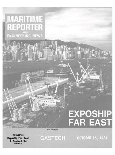 Cover of October 15, 1984 issue of Maritime Reporter and Engineering News Magazine