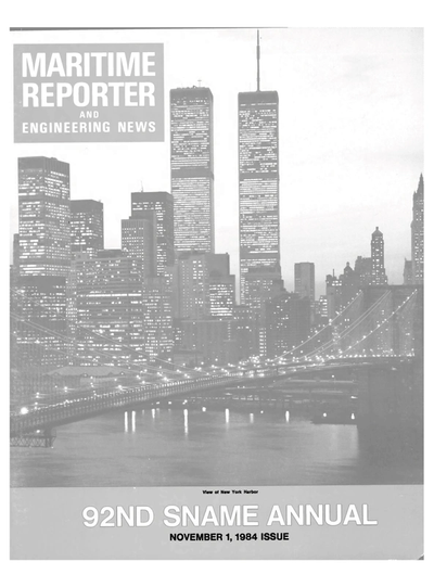 Cover of November 1984 issue of Maritime Reporter and Engineering News Magazine