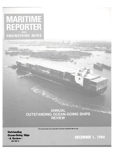 Cover of December 1984 issue of Maritime Reporter and Engineering News Magazine