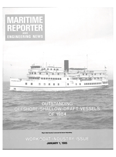 Cover of January 1985 issue of Maritime Reporter and Engineering News Magazine