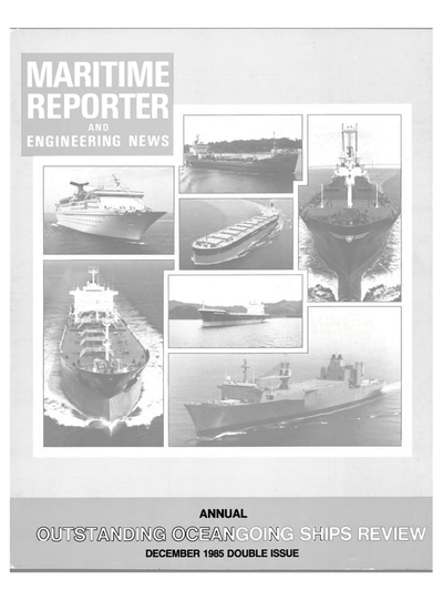 Cover of December 1985 issue of Maritime Reporter and Engineering News Magazine