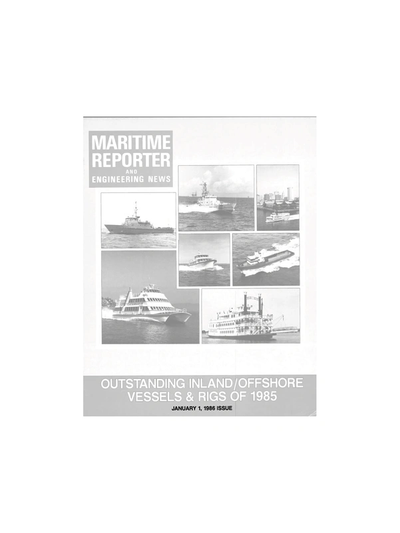 Cover of January 1986 issue of Maritime Reporter and Engineering News Magazine