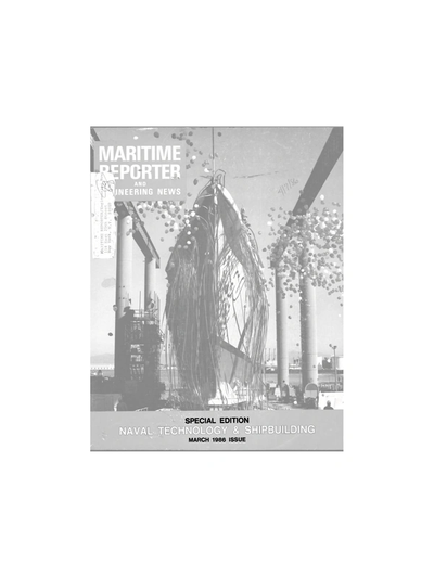 Cover of March 1986 issue of Maritime Reporter and Engineering News Magazine