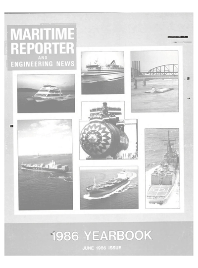 Cover of June 1986 issue of Maritime Reporter and Engineering News Magazine