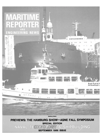 Cover of September 1986 issue of Maritime Reporter and Engineering News Magazine