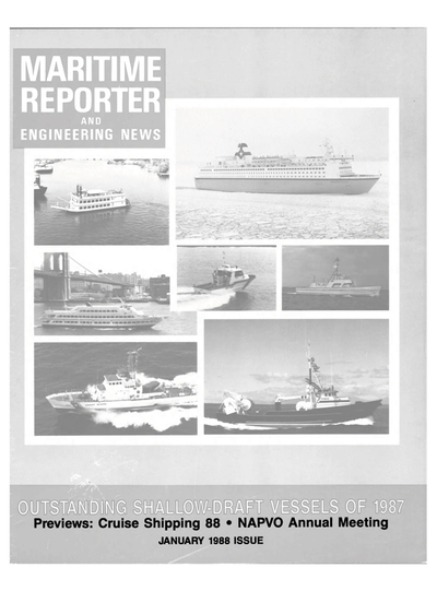 Cover of January 1988 issue of Maritime Reporter and Engineering News Magazine
